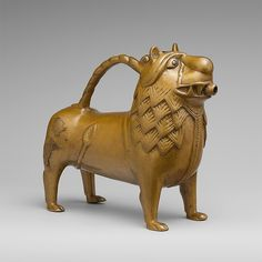 The Met - Aquamanile in the Form of a Lion - 12thC - North German - Accession Number: 64.101.1491