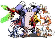 World Wildlife Federation of Justice, Assemble! World Wildlife Federation, Comic Books, Superhero, Comics, Anime, Art, Art Background, Kunst, Cartoon Movies