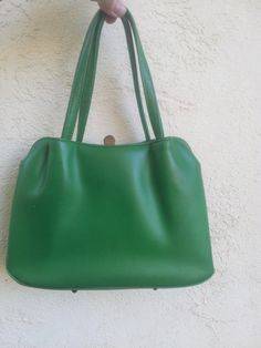 Grass Green vintage mod purse by PoolsofLaughter on Etsy, $22.00