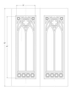 Gothic Tracery Patterns | library door tracery set design see gothic tracery door panels for ...