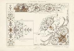 Antique Print-DECORATION-ORNAMENT-LOUIS XIV STYLE-DETAIL-PLATE 24-Gruz-1860