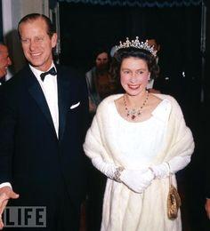 Prince Phillip and Queen Elizabeth II in Malta in 1967