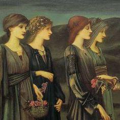 SIR EDWARD COLEY BURNE-JONES, De bruidsstoet van Psyche, 1895,