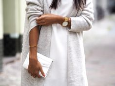 White + grey - the chicest color combination.