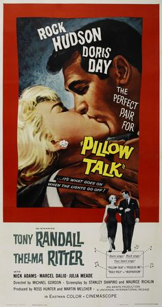Pillow Talk 1959   **** Far better poster artistry here yet still missing something the lightness the warmth and zip of the actual film.