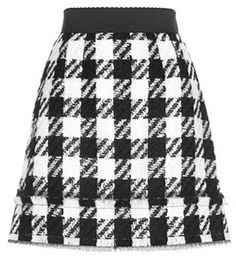 Dolce & Gabbana Tweed Wool-blend Skirt
