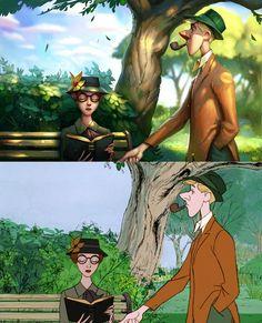 Quand un illustrateur rend hommage aux vieux Disney (image)