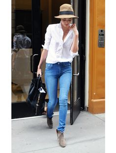 For those days you don't know what to wear, check out these simple and chic outfits (Stylesetter: Miranda Kerr)