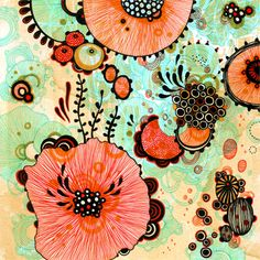 Yellena James - Gallery, underwater visions - ink on paper and acrylic on board.