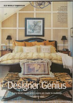 Small Rooms Magazine / 2012  Old Town Master Bedroom