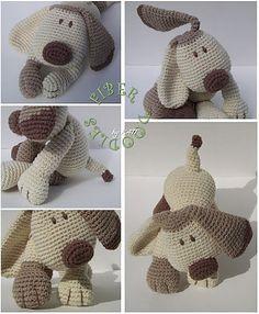 O dirait le doudou en peluche de ma fille. cebulon / Ravelry: K.I.S.S. Series Puppy pattern by K4TT