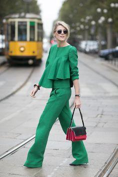 LOVE this!! Street Fashion @ Milan Fashion Week Spring Summer 15 | An Affair With Italy