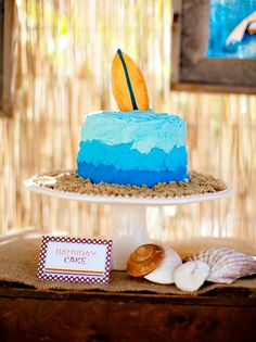Vintage Surf Theme Party {Father & Son Joint Birthday}The Cake