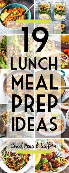 Easy lunch meal prep ideas will keep you from getting bored! Delicious work lunch ideas that you can make ahead and enjoy through the week.