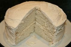 White Birthday Cake shortening (for greasing pans) 2 3/4 cups PLUS 1 Tbsp CAKE flour 2 1/2 tsp baking powder (2 tsp at high altitude) 1/2 tsp salt 1 1/2 tsp Ener-G egg replacer 2 Tbsp water 1 3/4 cups Almond Milk 1/4 cup water  1/2 cup Earth Balance Margarine 1 1/2 cups sugar 3/4 tsp vanilla extract 3/4 tsp almond extract 1/4 cup water    Preheat oven to 375F