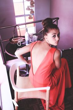 Watermelon dress by Amourie Becker. Watermelon Dress, Photoshoot, The Originals, Elegant, Formal, Clothing, Summer, Fashion Design, Vintage