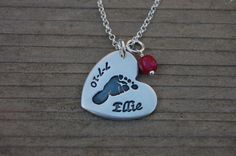 Custom Footprint Necklace - Made From Your Print by MyLoveCharms on Etsy https://www.etsy.com/listing/99905935/custom-footprint-necklace-made-from-your