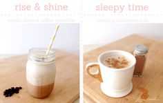Sweet Sips: Early to Bed, Early to Rise  Vanilla Almond Coffee Smoothie & Soothing Cinnamon Milk