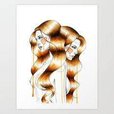 """""""Gemini""""+Art+Print+by+Mia+Desu+-+$25.00"""