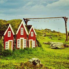 Djupivogur, Iceland - Houses for elves