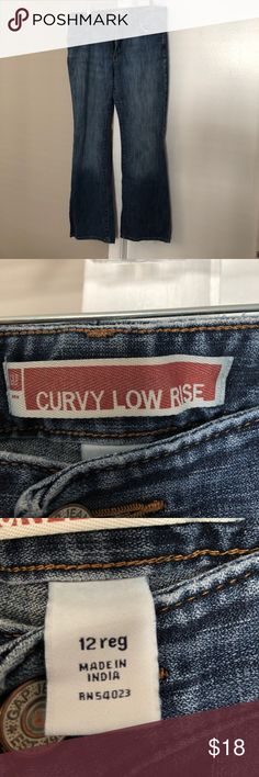 EUC Gap curvy low rise jeans Gap women's jeans. Excellent condition. None of that nasty pilling on the inside of the thighs! GAP Jeans Boot Cut