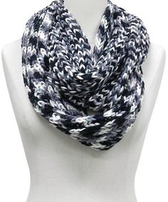Take a look at this Black, Gray & White Shade Stripe Infinity Scarf by Rikka Scarves on #zulily today!