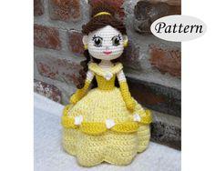 PATTERN  BELLE   Amigurumi  Crochet Doll  Photo Tutorial  | Etsy