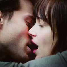 And the winner for best kiss award goes to.... Christian Grey and Anastasia Steele!
