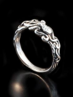 Octopus Ring in Sterling Silver by martymagic