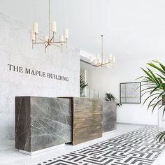 Image result for reception desk, built in power