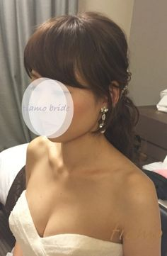 ふわふわルーズなお洒落ハーフアップスタイルの花嫁さま♡ | 大人可愛いブライダルヘアメイク『tiamo』の結婚カタログ