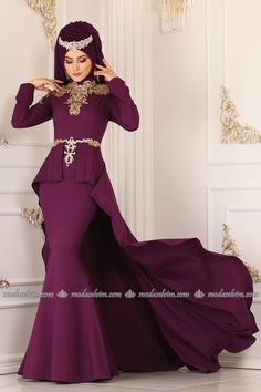 ModaSelvim Gold Payetli Kuyruklu Abiye 5134AY342 Şarabi Peplum Dress, Mermaid, Women's Fashion, Formal Dresses, Collection, Dresses For Formal, Fashion Women, Formal Gowns