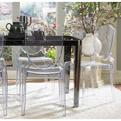 Ethan Home Canali Crystal Clear Molded Polycarbonate Side Chair (Set of 2) | Overstock.com