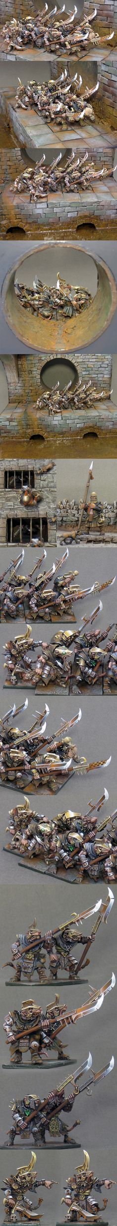 This is just my imagination... (skaven stormvermin). Great double NMM silver and gold blends together so well.