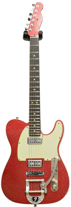 Buy the Fender Custom Shop Tele Relic TV Jones With Bigsby Red Sparkle Bound #R78166