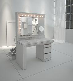 Trendy makeup table studio closet Ideas - make up room studio Bedroom Makeup Vanity, Vanity Desk, Diy Vanity, Makeup Rooms, Small Room Desk, Small Room Bedroom, Master Bedroom Design, Bedroom Decor, My Room