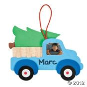 Christmas Tree Truck Photo Frame Ornament Craft Kit
