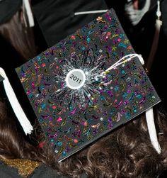 FIDM 2011 Graduation - Decorated Mortar Boards - Staples Center, Los Angeles, California