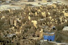 Ruins of the medieval city of Shali, Egypt; by aerial photographer, Yann Arthus-Bertrand.