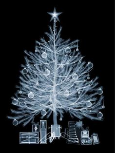 This Nick Veasey Christmas Tree Photography Series is a Modern Classic #christmas trendhunter.com