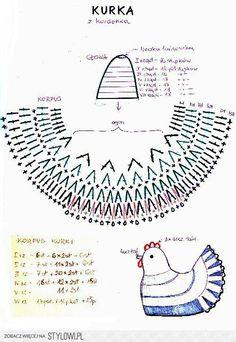 Crochet Hen Egg Cozy Pattern from Vintage Crochet Designs Easter Crochet Patterns, Crochet Motif, Crochet Designs, Crochet Doilies, Crochet Stitches, Crochet Baby, Knit Crochet, Crochet Chicken, Easter Egg Crafts