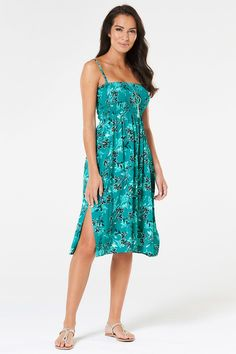 91a44a6aa41 Leaf Print Multiway Beach Dress - With three ways to wear it