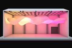 Nurbe in Aguascalientes/MEX - light and textile transform a warehouse space (Jul 2015)