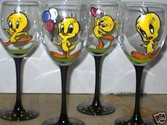 tweety bird stained glass