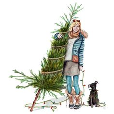 commissioned christmas illustration by tracy hetzel von lottie – Fashion Girl Christmas Sketch, Christmas Drawing, Christmas Mood, Christmas Fashion, Christmas Pictures, Merry Christmas, Christmas Qoutes, Xmas, Christmas 2015
