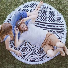 The Beach People Round Towel