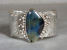 Labradorite Cuff handcrafted bracelet