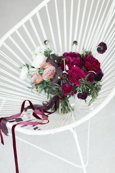 Jewel Tone Fall Bouquet in Plum and Velvet