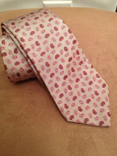 Vintage CHRISTIAN DIOR Neck Tie Grey and Red Paisley 100% Silk - EUC! | eBay