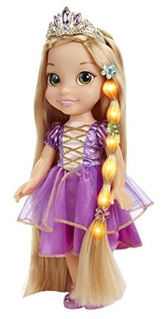 Disney 46816 Tangled Glow & Style Rapunzel Toddler Doll in Dolls. Disney Princess Toddler Dolls, Disney With A Toddler, Disney Dolls, Little Girl Toys, Toys For Girls, Rapunzel Cosplay, Fantasias Halloween, Princess Dress Up, Bookmarks Kids